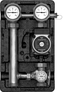 Насосные группы со смесителем и ограничителем температуры подающей линии (термостат 25-50 °С) тип MTV