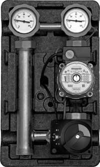Насосные группы со смесителем и ограничителем температуры подающей линии (термостат 25-80 °С) тип MTVE