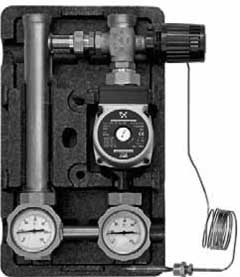 Насосные группы со смесителем и ограничителем температуры обратной линии (термостат 30-65 °С) тип MTR