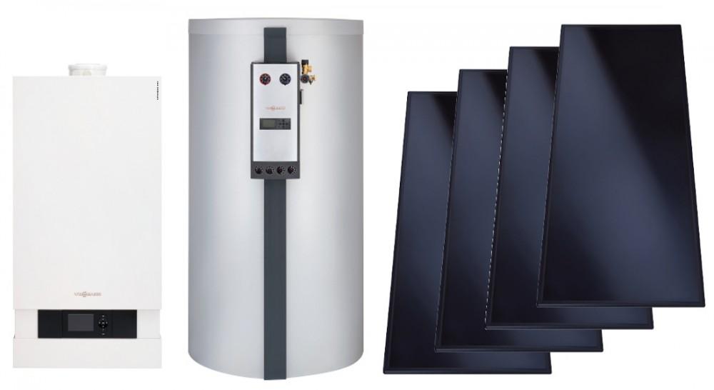 Vitodens 200 35 кВт + бойлер 300 л. + солнечный коллектор