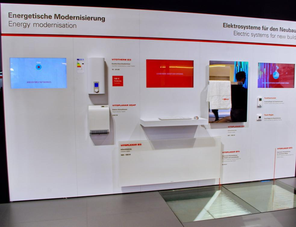 проточный водонагреватель Viessmann Vitotherm EI2 и инфракрасная панель Vitoplanar EI2