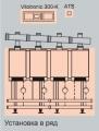 Vitodens 200, четырехкотловая установка (в ряд)